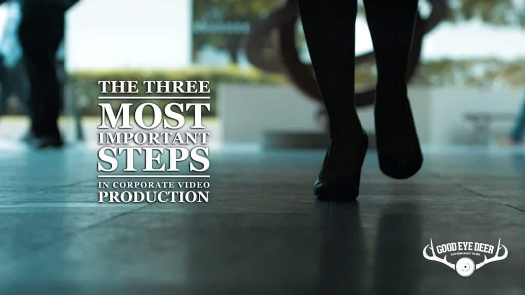The 3 most important steps in corporate video production Sydney - Good Eye Deer